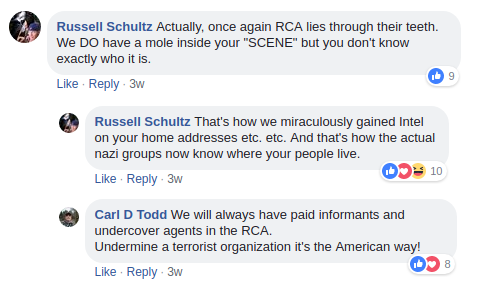 Russell Schultz claims to collaborate with Nazis