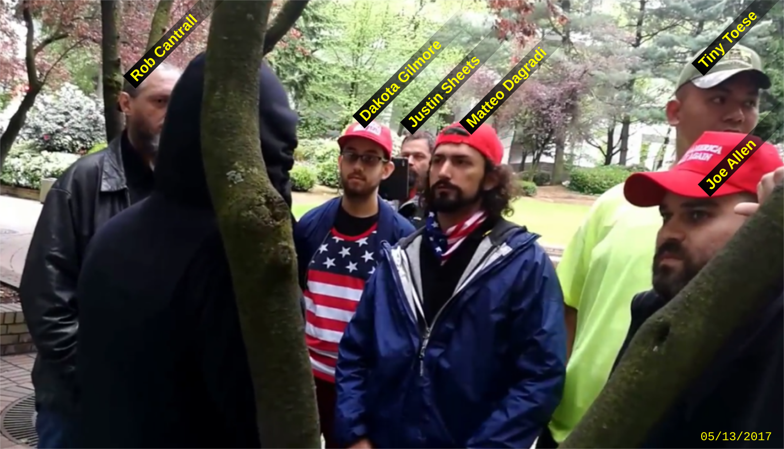 Rob Cantrall and other Proud Boys planning to disrupt a police accountability rally