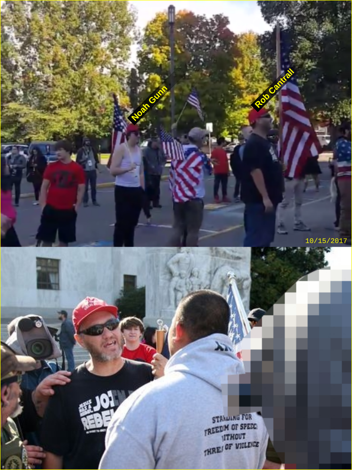 Rob Cantrall attends a Patriot Prayer rally