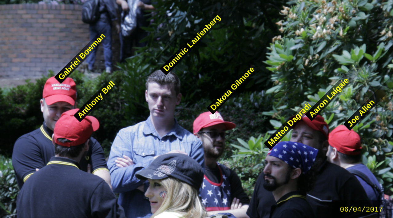 Gilmore attends the June 4 2017 Patriot Prayer hate rally