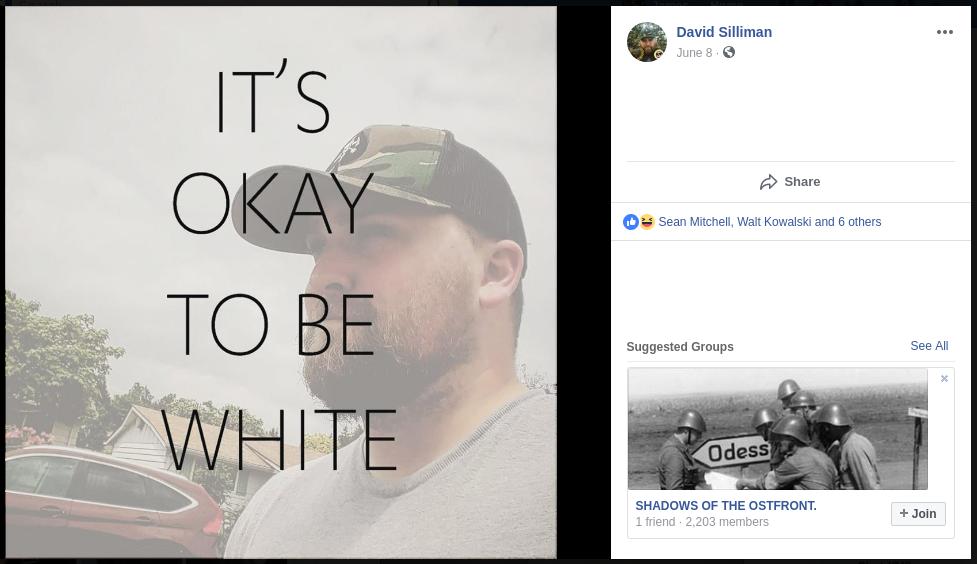 David Silliman shares Nazi propaganda