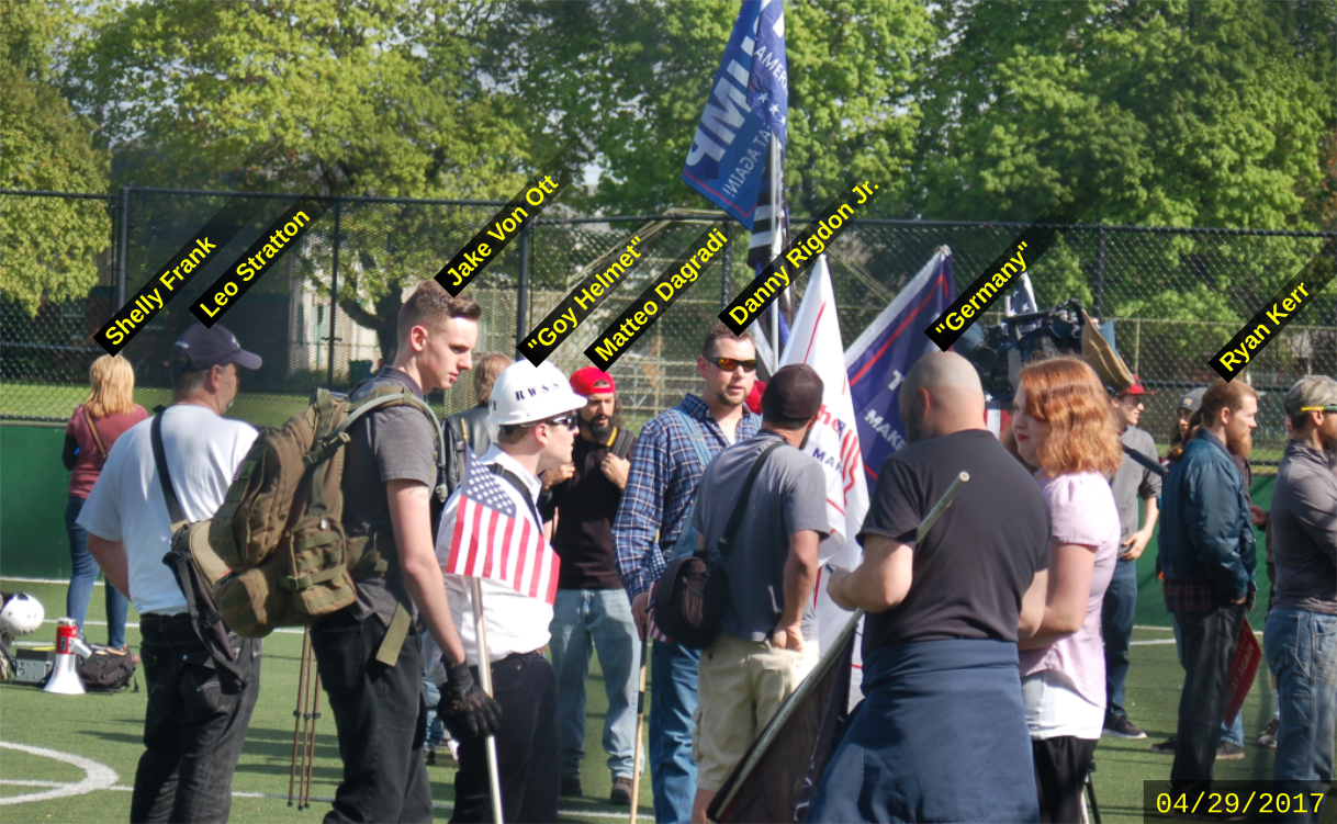 Matteo Dagradi attends a Patriot Prayer rally with Nazis