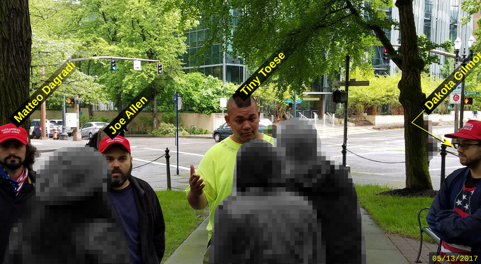 Matteo Dagradi harasses activists in Portland
