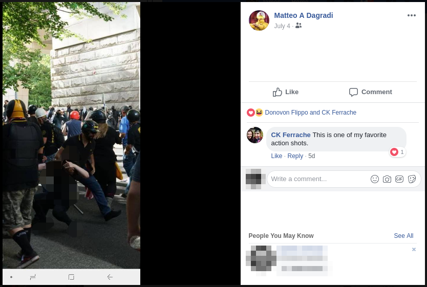 Matteo Dagradi assaults an activist