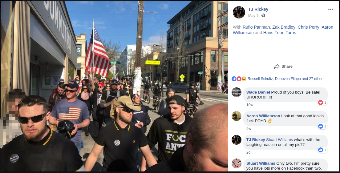 Aaron Williamson attempts to storm May Day with Proud Boys