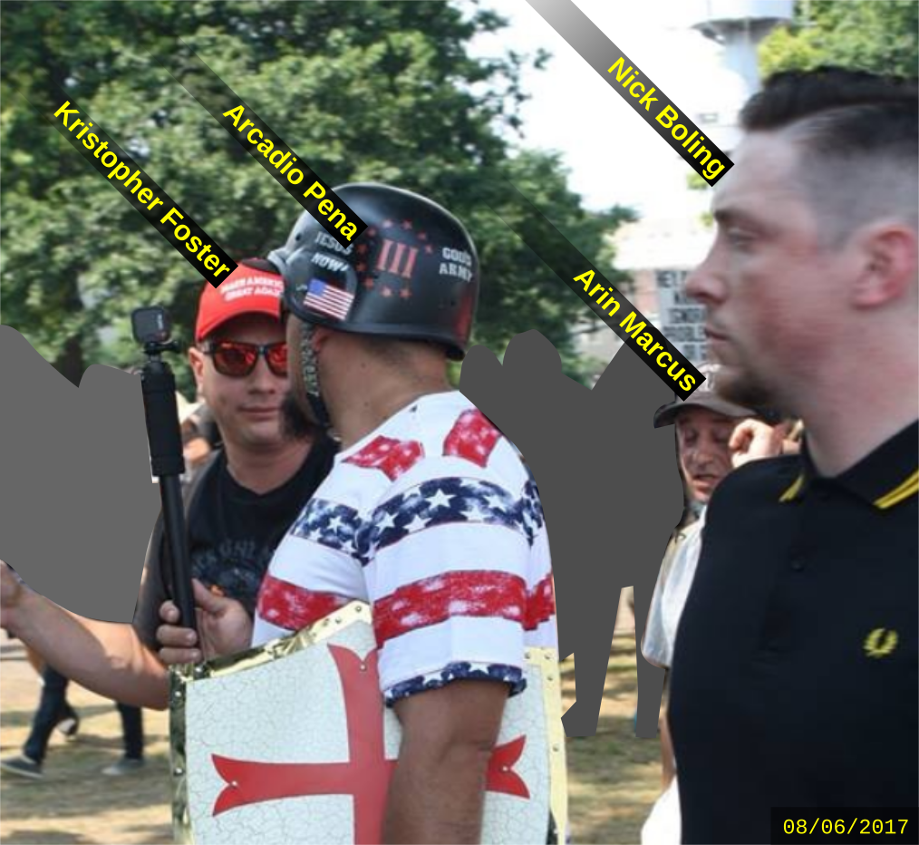 Nick Boling attends a Patriot Prayer rally with other fascists