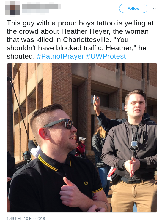 Twitter user witnesses Boling mocking murdered activist Heather Heyer