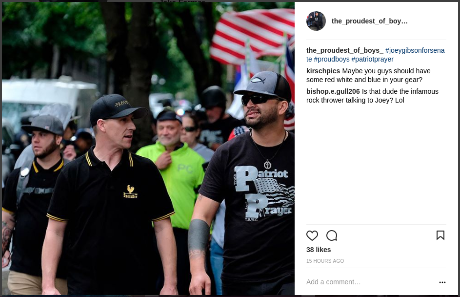 Jake Farmer with Joey Gibson