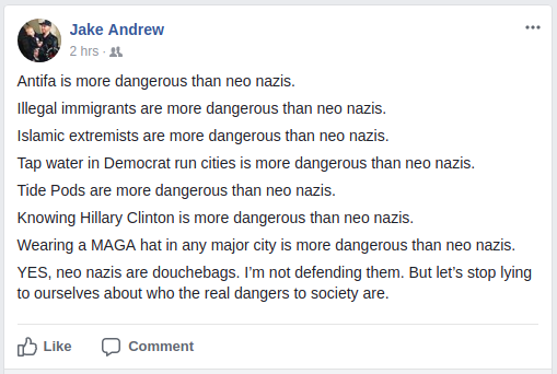 Jake Farmer pretends Nazis are not a threat
