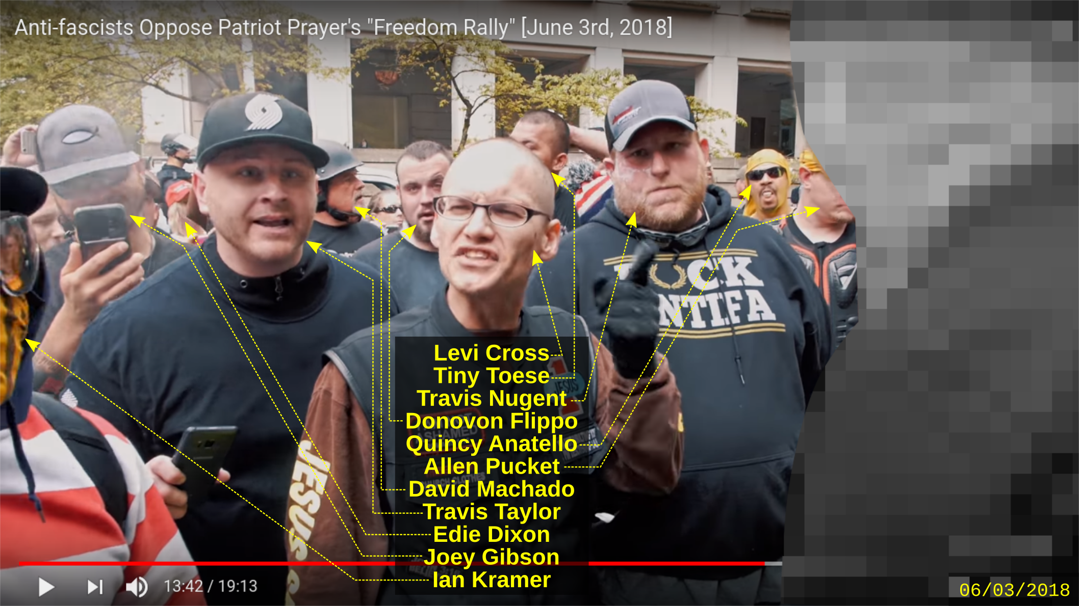Travis Taylor at a Patriot Prayer rally