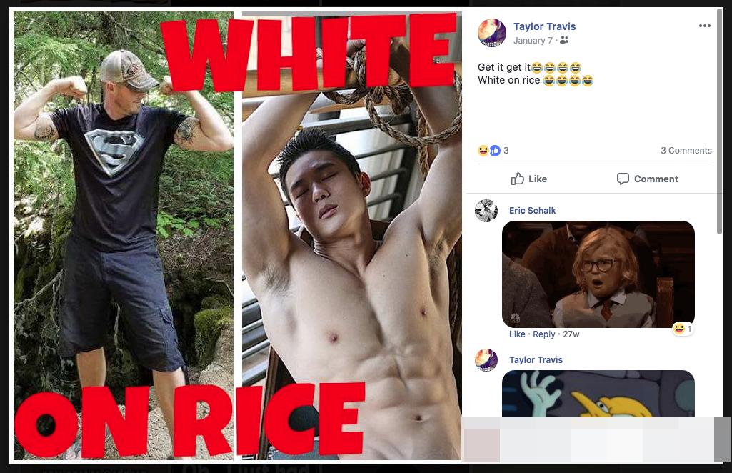 Travis Taylor's weird racist fetishism of an Asian man