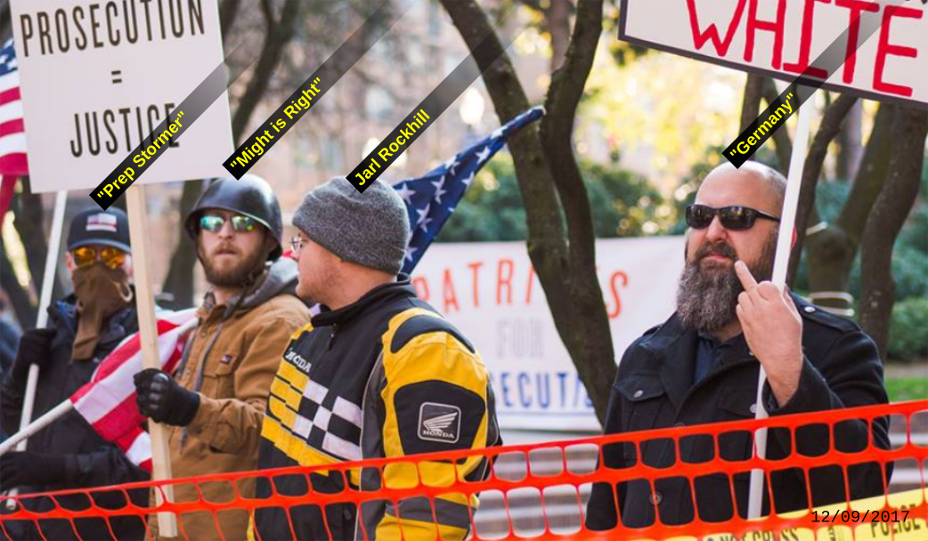 PDX Stormers collaborate with Patriot Prayer.