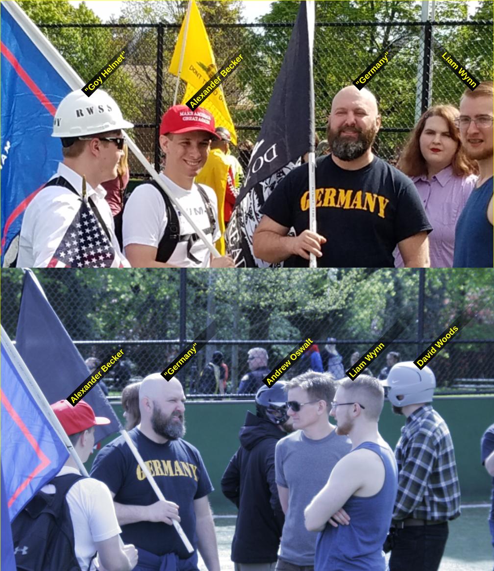Liam Wynn with neo-Nazis at an April 29 2017 Patriot Prayer rally
