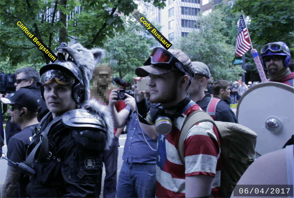 Cody Bussard with fascists on June 4