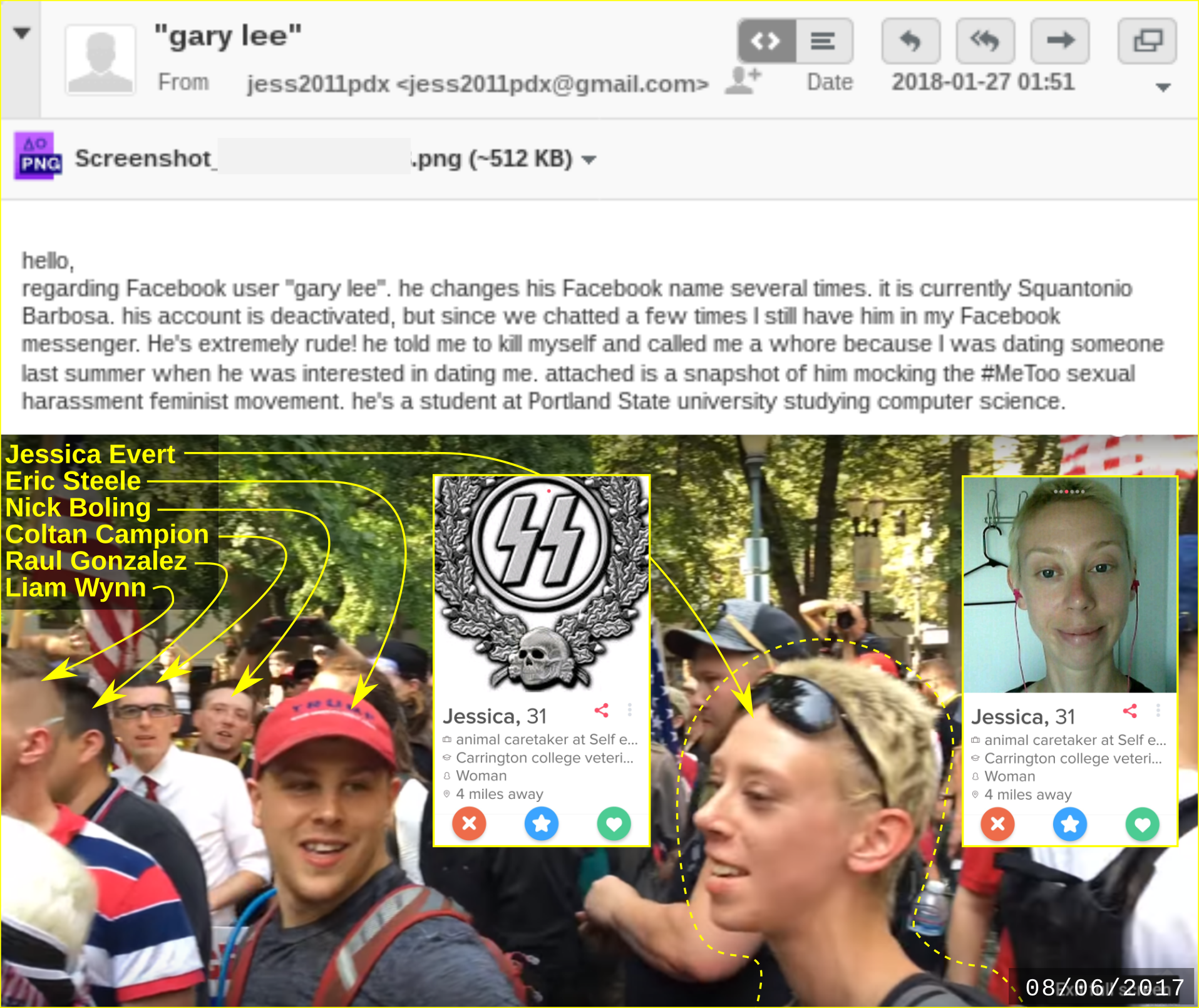 fascist Jess Evert sends information about Liam Wynn