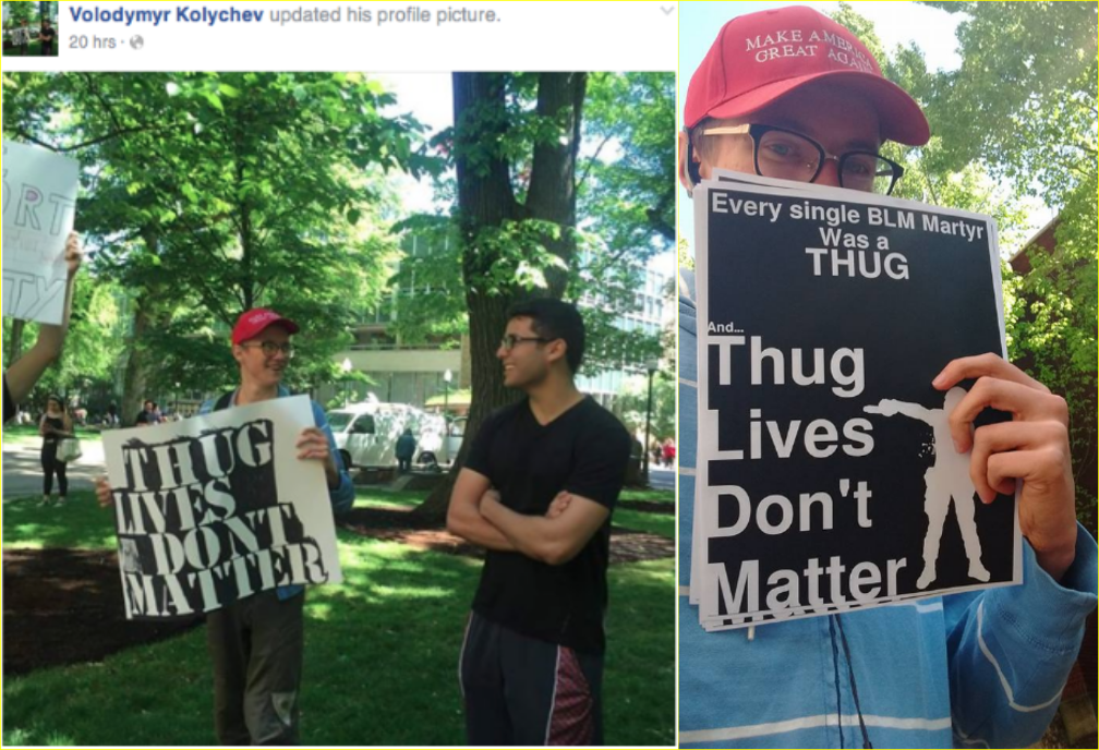 Volodymyr Kolychev pulls a racist stunt on Campus