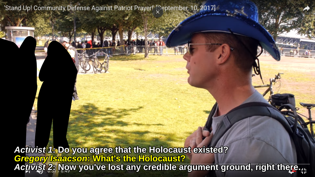 Gregory Isaacson Holocaust denial
