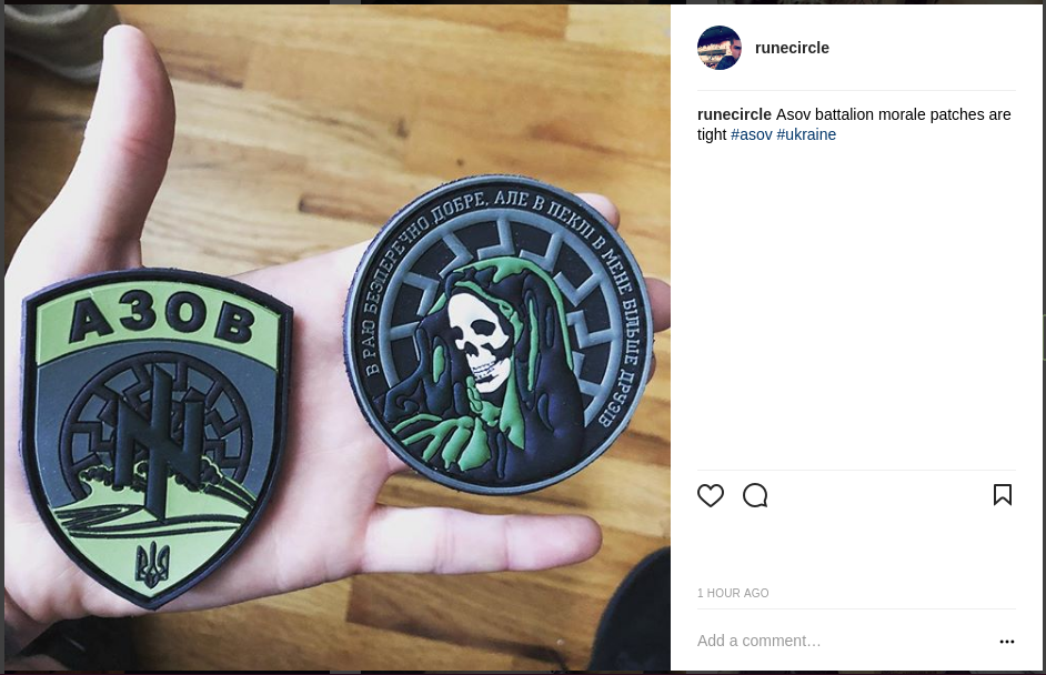 Schomaker with Azov morale patches
