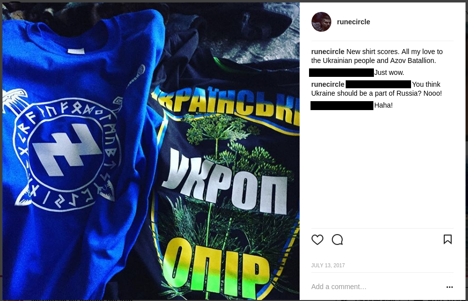 Schomaker with Azov shirts