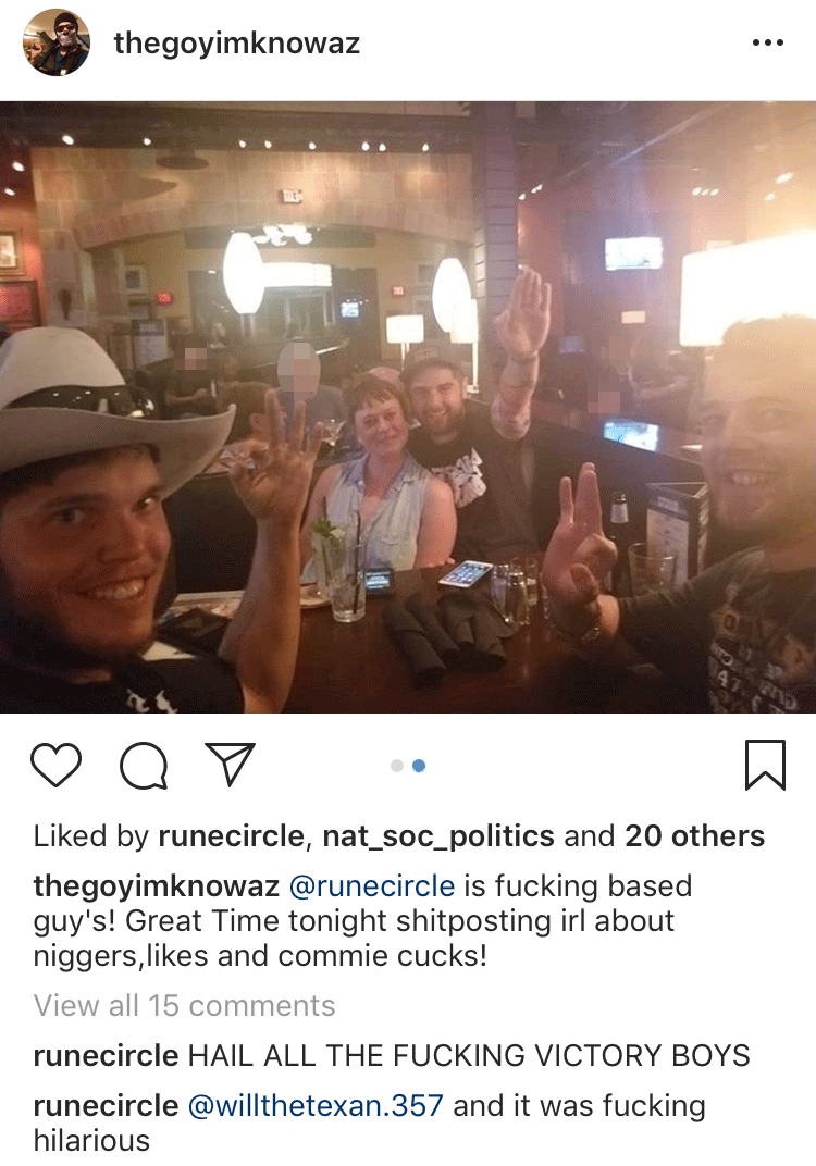 Schomaker throws up a Nazi salute in an Arizona bar