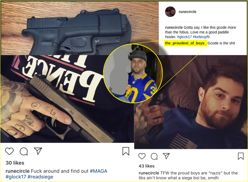 Schomaker references Siege and the Proud Boys